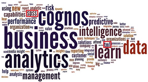 IBM IOD 2013 Business Analytics Wordle Stream