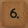 Wooden Cube Black Number 6