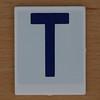 Hangman Blue Letter T