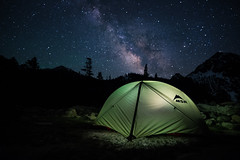 Milky Way over Green Lake Camp photo by DanB.