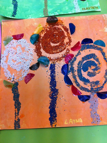 fleurs collage