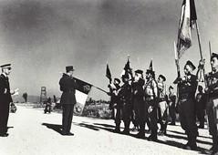 1944- Italie drapeaux RFM et BIMP  et décorés gal de Gaulle Marcianise 30 juin 44 Ecpa-Gaujac