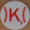 Major League Baseball Scrabble Letter K