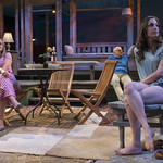 Susie McMonagle (Maria), Jonathan Weir (Frank) and Emily Berman (Tessa) in DAYS LIKE TODAY at Writers Theatre. Photo by Michael Brosilow.