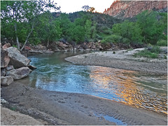 Zion Sunset, Virgin River 4-29-14b photo by inkknife_2000 (4 million views)