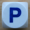 Boggle Dice Letter P