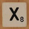 Crossword dice letter X