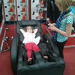 Trying out the massage chair<br/>21 Sep 2014