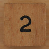 Wooden Cube Black Number 2