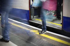 Stepping out...London Underground photo by HartwellPhotography