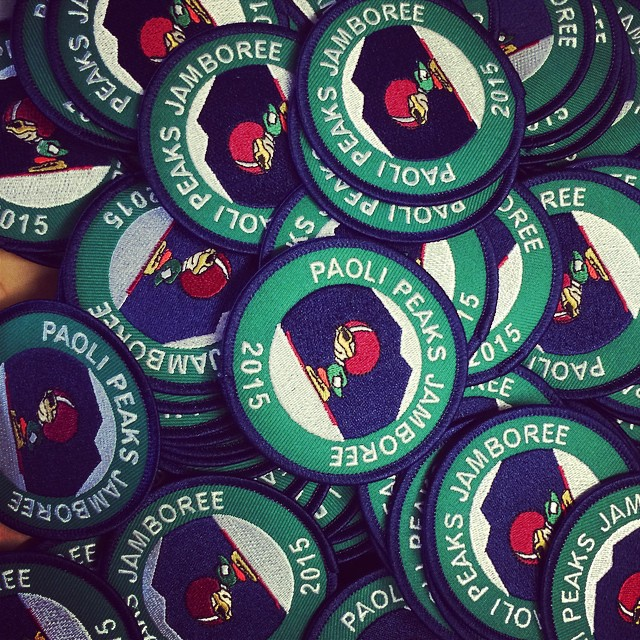The patches for our 2014/2015 #boyscout #jamboree have arrived! Book your scout group now! This years jamboree is Feb 21-22, 2015 http://paolipeaks.com/scouts.html #boyscouts #greatdiscounts