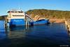 Kingfisher Bay Barge Docked at Kingfisher Bay Resort Pier,  Fraser Island, SE Queensland