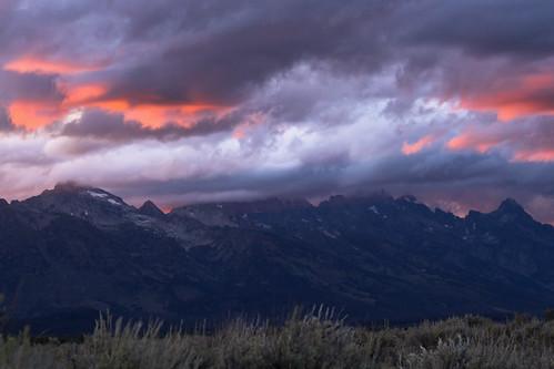 8/27/14 - Teton drama at sunset