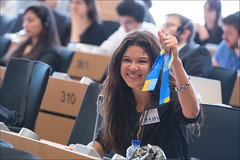 Ukrainian singer Ruslana before the vote of the AFET committee