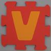 Foam Play Mat Letter V