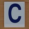 Hangman Blue Letter C