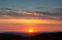 Bleaklow sunset photo by Keartona