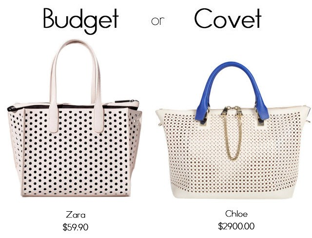 perforated budget or covet copy