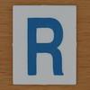 TESCO Hangman blue letter R