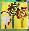fleurs collage matières
