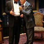 William Brown (Henry Kissinger) and Larry Yando (Nixon) in NIXON'S NIXON at Writers Theatre (2008). Photo by Michael Brosilow.