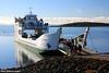 The Fraser Venture Barge Departing River Heads Bound for Wangoolba Creek, Fraser Island, SE Queensland