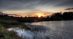 Sunset at Lough Fea photo by Glenn Cartmill