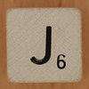 Crossword dice letter J