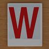 Hangman Red Letter W