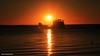 Sunset over Kingfisher Bay Resort Barge - Fraser Island, SE Queensland