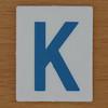 TESCO Hangman blue letter K