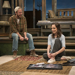 Will Mobley (James) and Emily Berman (Tessa) in DAYS LIKE TODAY at Writers Theatre. Photo by Michael Brosilow.
