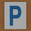 TESCO Hangman blue letter P