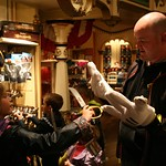 Trying to pursade dad to but mickey gloves<br/>26 May 2014