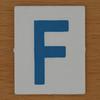 TESCO Hangman blue letter F