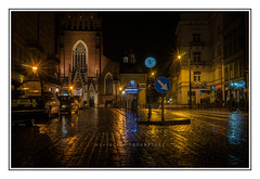 Krakow City Centre at Night photo by Tim-xxx