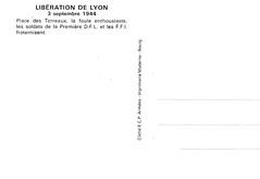 Philatélie- 1944 - Lyon - Libération de Lyon - source : Jean Pflieger