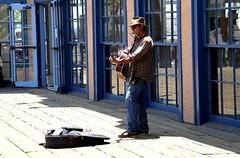Street Musician at Santa Monica Pier, CA, USA. photo by SETIANI LEON