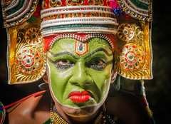 Traditional Kathakali dancer. Kerala, India. photo by ravalli1