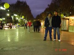 La Rambla Di Waktu Malam, Barcelona, Spain