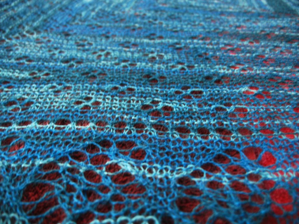paisley lace shawl closeup