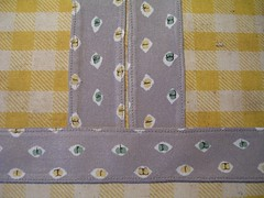 tabs and carriers topstitched
