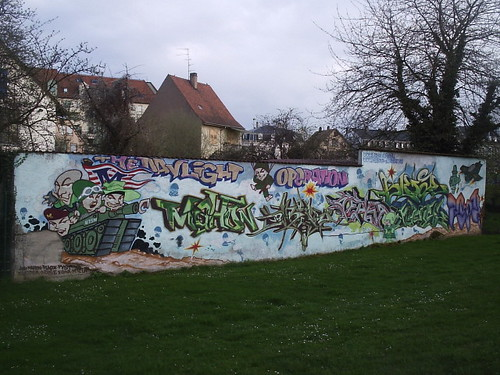 Wall with graffiti