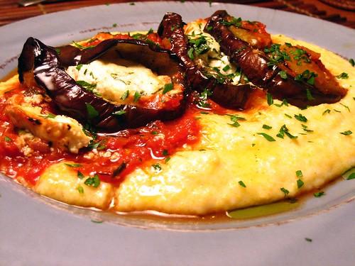 Eggplant Involtini and Polenta