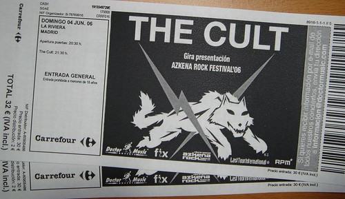 the cult ticket