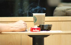 Smoking at Starbucks