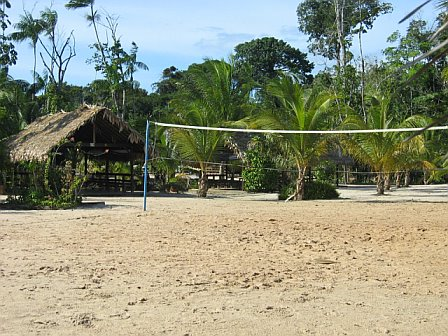 volleyball court at overbridge