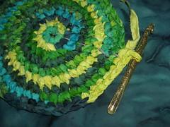 circular crochet rug