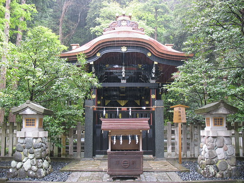 Kamakura - hram, kiša