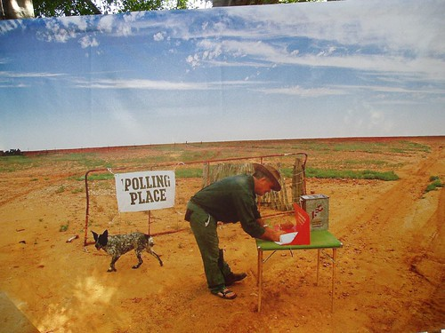 Polling Booth in Australia's wilderness